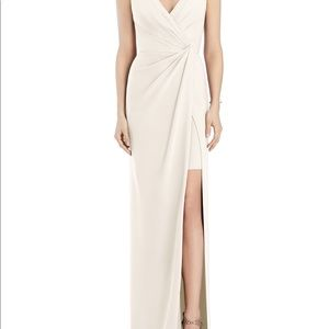 Jenny Packham Crepe Column Gown Ivory